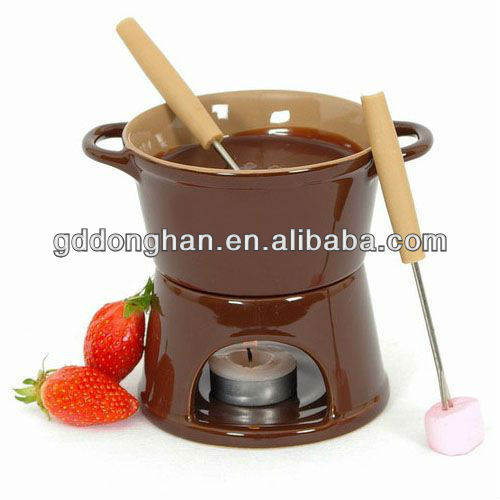 cheap custom new production best design reusable ceramic swiss fondue for sale