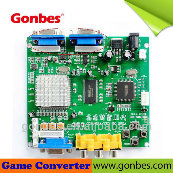 Arcade Video game converter PCB board RGB EGA CGA to VGA