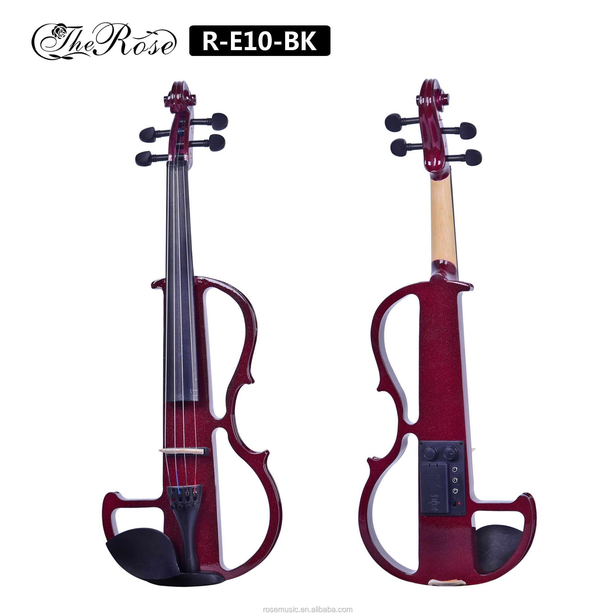 Wholesaler price  4/4 full size electric violin with violin bow accessories made from China factory