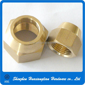Alibaba gold supplier brass hex flange nut for pipe fitting