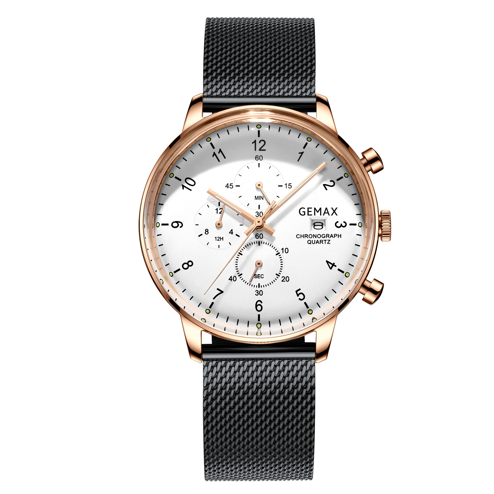 TOP-selling all stainless steel fashion chronograph cool date wrist watch men фото