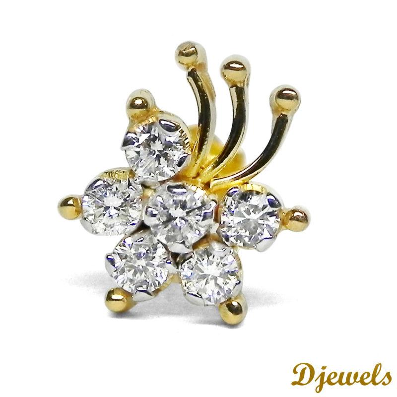 Designer Diamond Nose Pin Bridal Nose Pin Fancy Nose Pin Buy