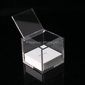 Custom Acrylic keepsakes box clear wedding favors ring box with foam