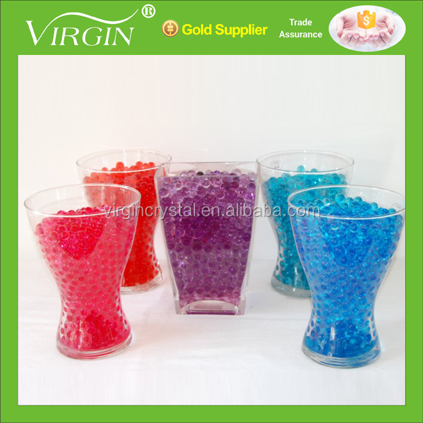 Wholesale Colourful Artificial pearl shape Crystal soil for wedding decoration supplying plant vase filler