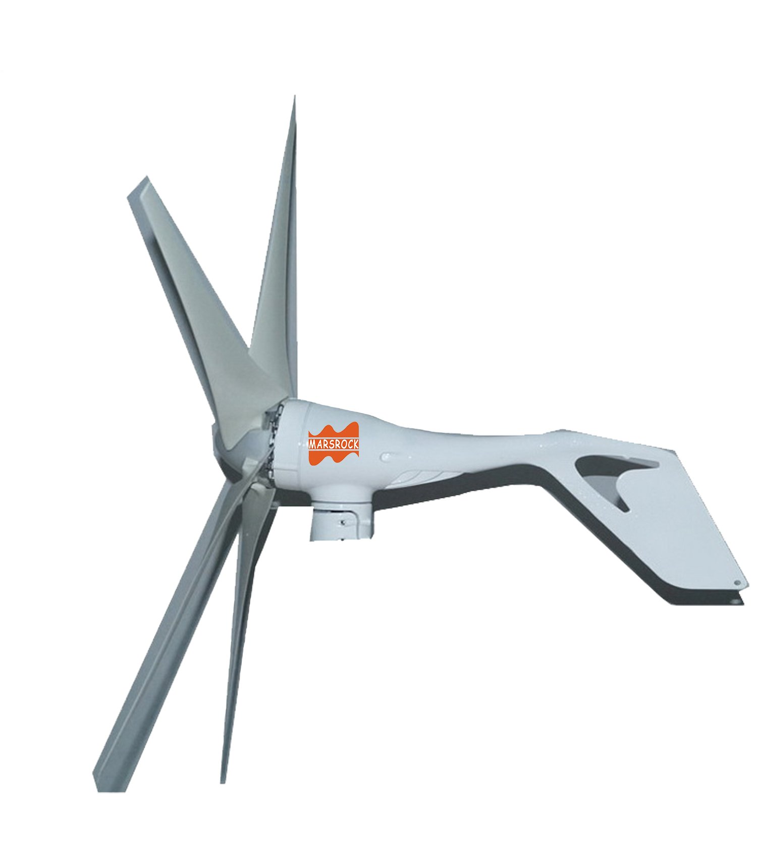 MarsRock Mini Wind Turbine DC 12V or 24V 3 Blades 400W 300W Wind Turbine Generator with built-in Rectifier module , 2M/S Start Wind Speed (400W)