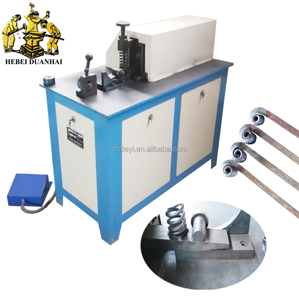 DH-DJ16A Automatic Blacksmith Wrought Iron Coil Rolling Machine Flat Steel Rolling Making Tool