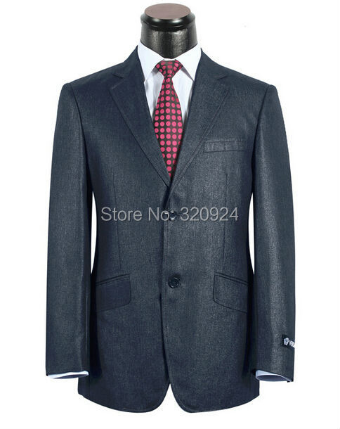 suit 100% wool V brand men business suits 2-piece slim fit suits