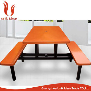 Fibergl Top School Dining Tables And Chairs Mess Hall Table