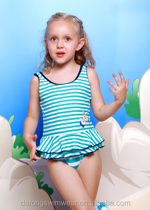High quality girls swimwear&wholesale cute kids swimming bikini