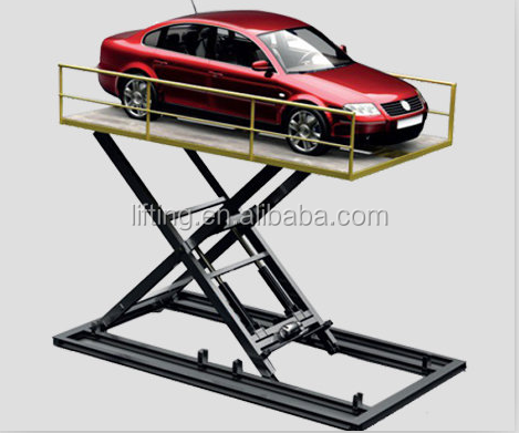 4m 3.5ton hot sale car lifts for home garages used car lifts for sale electric car scissor lift