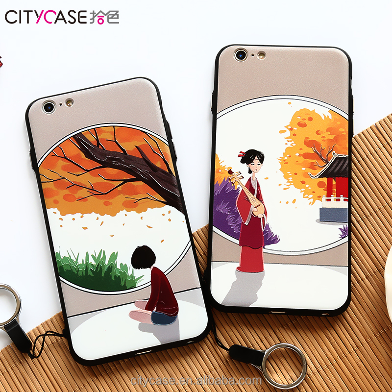 Citycase brand Custom Wholesale Phone cases cover for iphone 6 6s 6Plus Chinese Painting