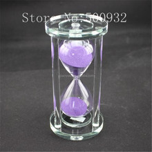 Hot Sale purple 5 Min Excellent Quality Sandglass Time Counter Count Down Timer Hourglass Clock Decor Unique Gifts