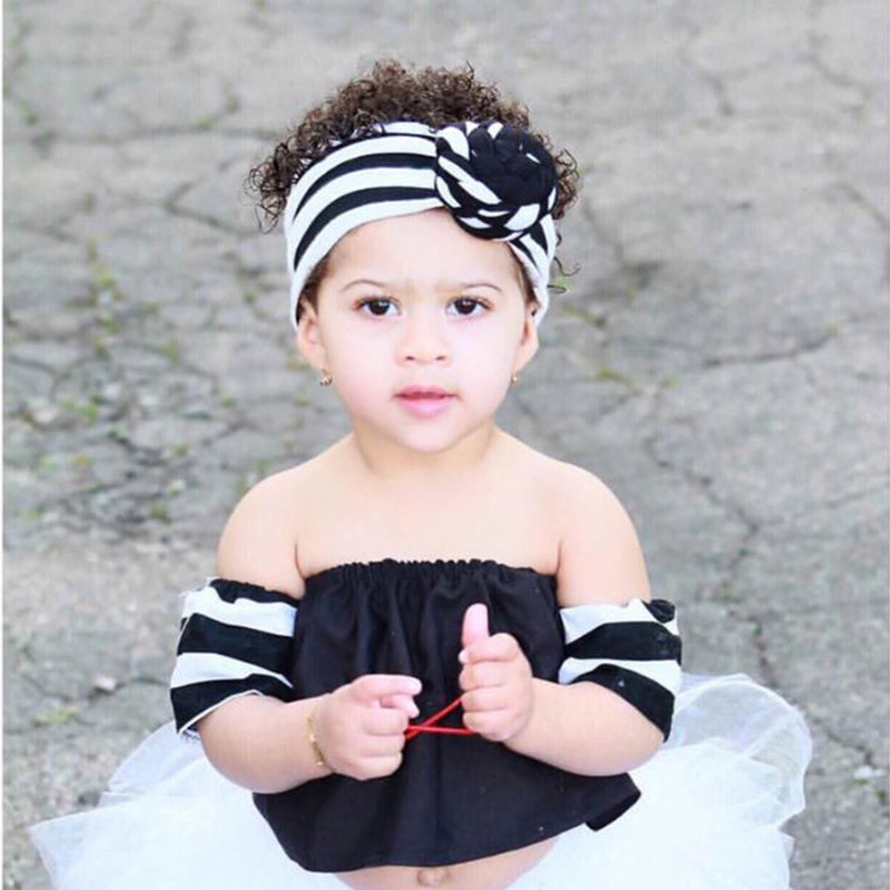 Knot Girls Head Bands Baby Striped <strong>Hair</strong> <strong>Accessories</strong> M8051001