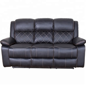 luxury leather couch, modern design good price recliner sofa