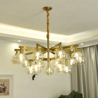Hotel Big Room Bedroom Nordic Modern Living Simple Creativity Glass Wrought Iron engineering Pendant Light Chandelier