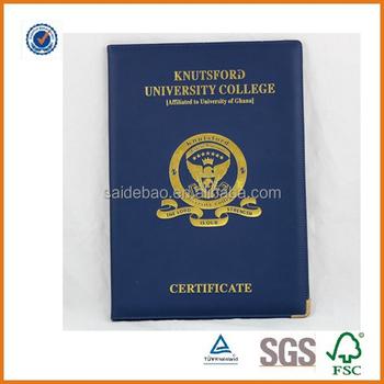 A4 Certificate Folder/leather Certificate Holder Manufacturer - Buy ...