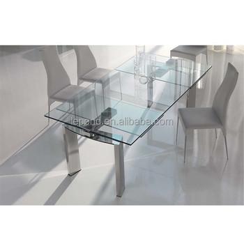 Glazen Tafel Uitschuifbaar.N128 Scherpe Uitschuifbare Glazen Eettafel Ontwerpen Nieuwe Design Glazen Eettafel Producten Buy Scherpe Glas Uitschuifbare Glazen