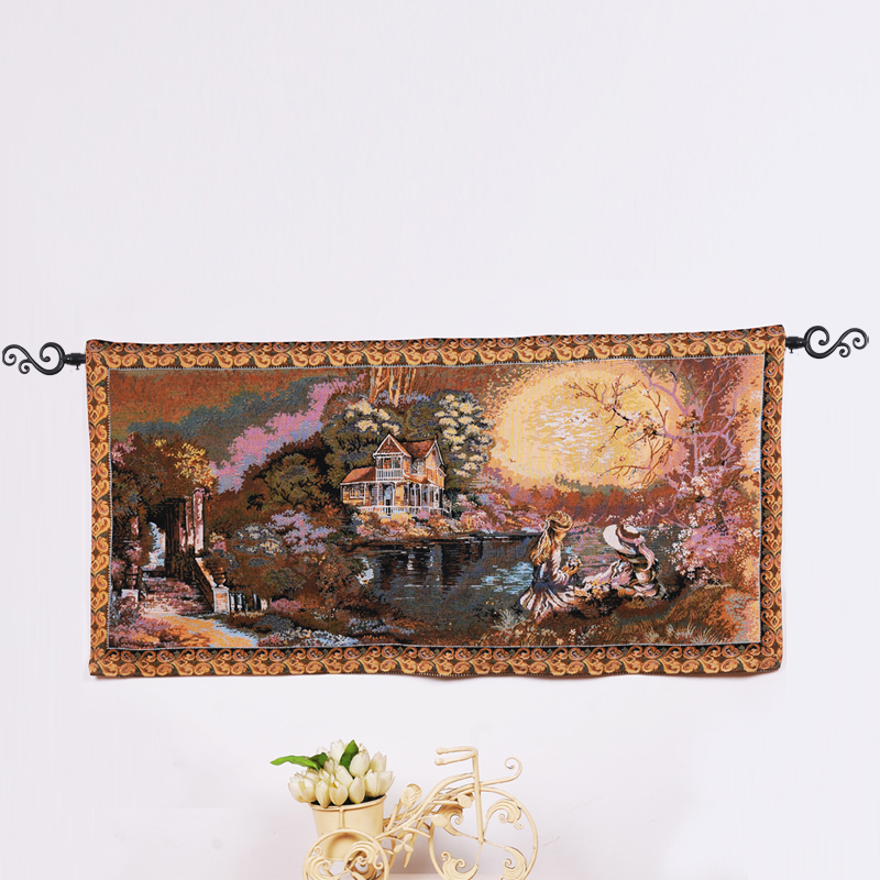 china cotton jacquard wall hanging tapestry