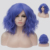 Aicos 40CM Medium Mix Blue Ombre Lockiges Haar Frauen Cosplay Lolita Synthetische Perücke + Perücke Kappe