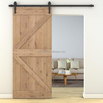 K Design Double Z Bruce Solid Wood Interior Sliding Barn Doors Cheap