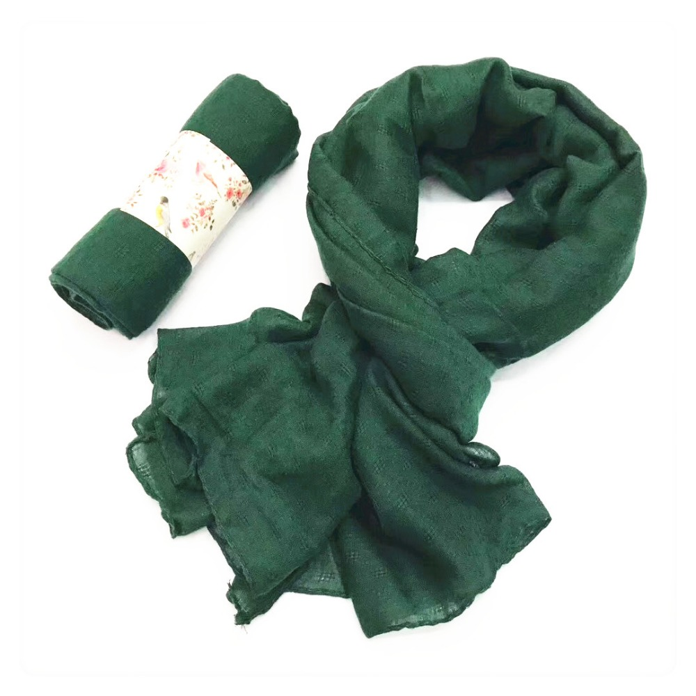 Army green color cotton viscose hijab muslim woman <strong>scarf</strong> for promotion