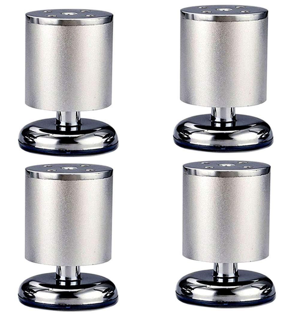 OULII Furniture Legs Kitchen Adjustable Feet Round Metal Table Legs Pack of 4