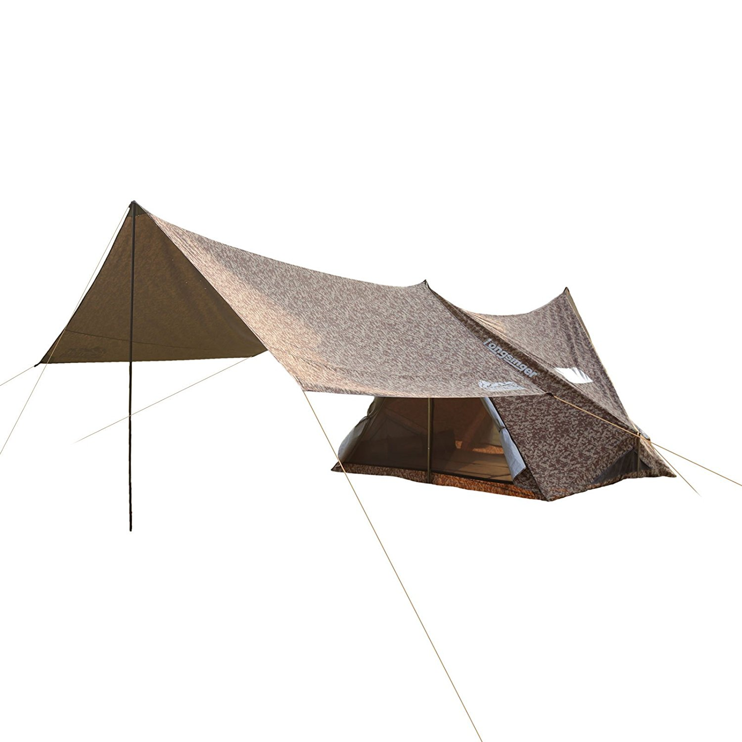 110.2x94.5x76.8in 5 person camping tent family tent with 137.8x157.5x78.7in Large rain fly tent tarp