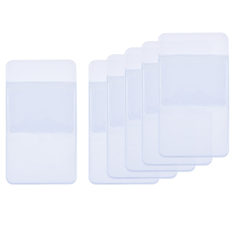 Blulu 6 Pack Pocket Protector School Hospital Office Supplies for Pen Leaks, Transparent