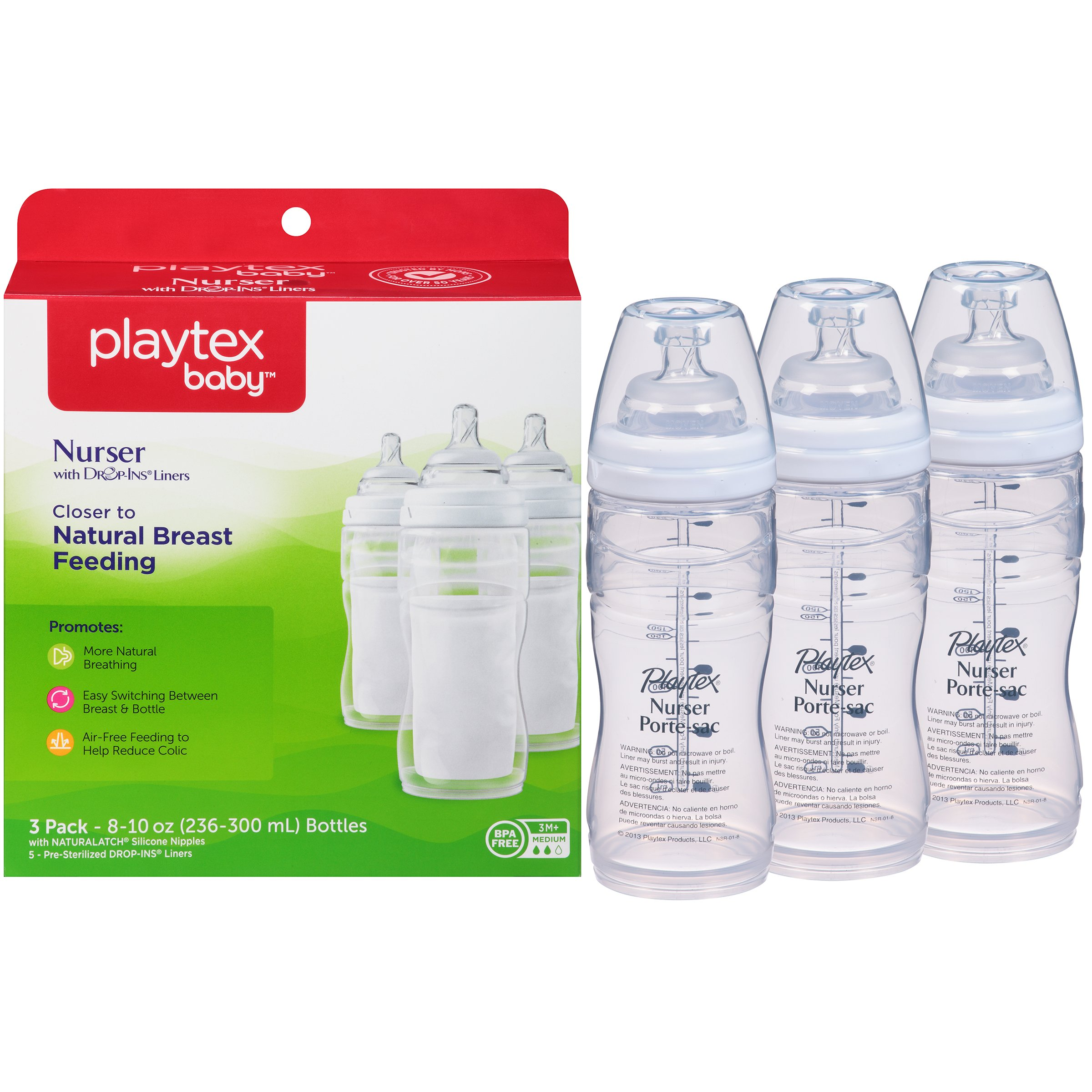 Baby Bottles Cheap Price Playtex 4oz Disposable Bottles Pre Sterilized 50 Bottles Per Box Lot Of 3 Boxes Feeding