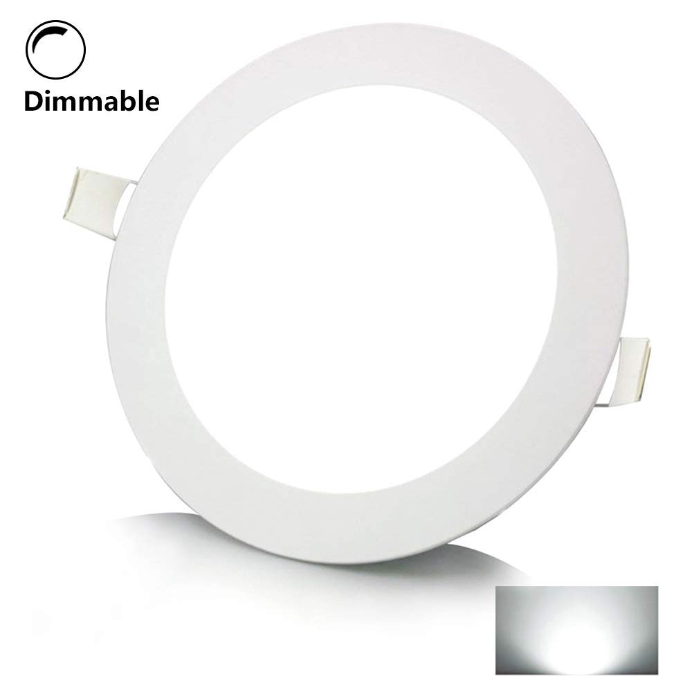 Cheap White Led Driver Circuit Diagram Find Of Light In Addition Dimmer Get Quotations 12w 6 Inch Dimmable Flat Recessed Lightround Ultra Thin Panel Downlight