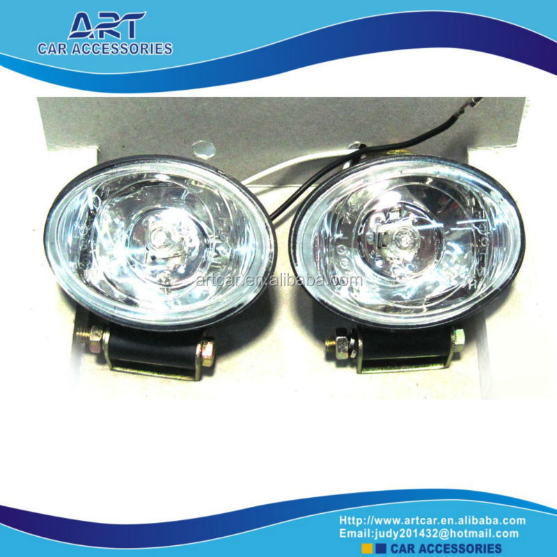universal car fog lamp with plastic cover