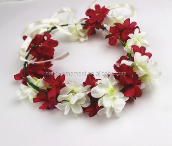 New Design Seaside Artificial Girls Nice Lily Flower Crown Headbands f505809c9a2