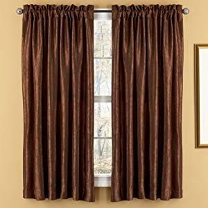 Elegant Home Fashions Aretha Rod Pocket Window Panels