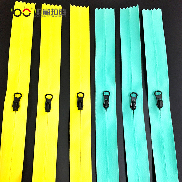 Wholesale custom color waterproof nylon open end zipper