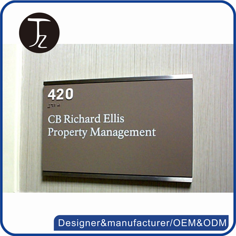 Casting Craftsman Factory manufacturing metal/aluminum /acrylic ,wall mounted door sign , office room sign