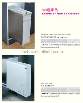 Merveilleux Modern Kitchen Storage Dispenser Rice Container In Powder Coated Finish