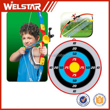 Suction Nozzle Plastic Bow and Arrow Kid's Toys with Archery Target Set Outdoor Games