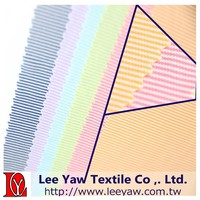 100% polyester high gauge interlock 2 tone horizon stripe fabric with wicking for garment