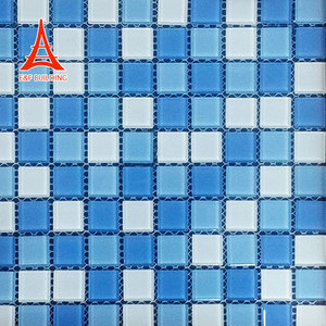 hot sale cheap broken glass mosaic tiles foshan glass mosaic picture pattern for swimming pool