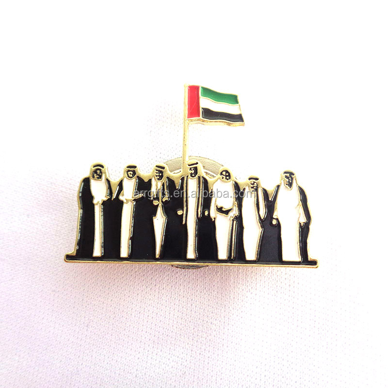 metal uae 7 sheikhs design united arab emirates national day spirit of the union brooch badge