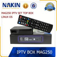 Mag 250 Linux System IPTV box STi7105 Media Player RAM 256 Mb Support Wifi USB Connector Two kinds of channel selection TV Box