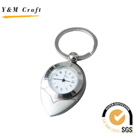 Specail Design Metal Clock keychain supplies (Y02558)