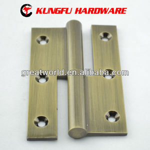 Brass h door hinge with 3/3.5/4inchs