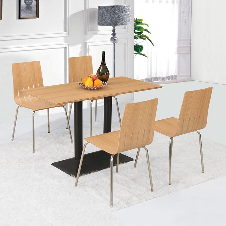 नवीनतम शैली आधुनिक फास्ट फूड रेस्तरां मेज कुर्सी/खाने की मेज कुर्सी सेट