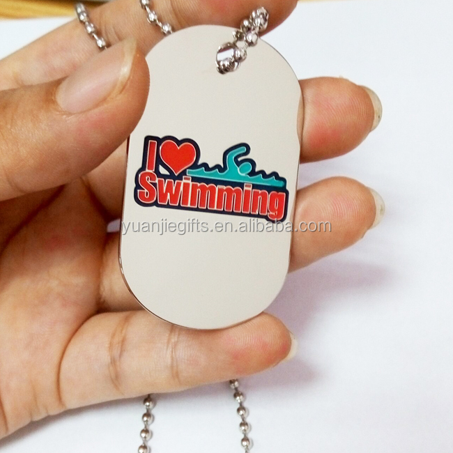 New design Promotional brass etched dog tags as swimming club VIP Card