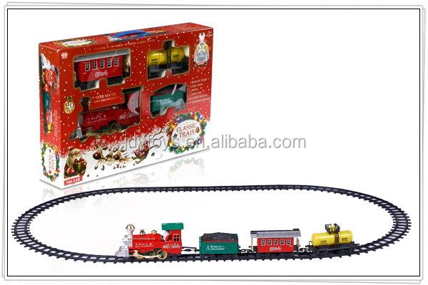 lectrique de no l trains ferroviaire jouets avec le tabagisme et lumi re b o de no l rail. Black Bedroom Furniture Sets. Home Design Ideas