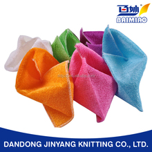 customized wholesale degreasing easily natural bamboo fabric dish cleaning towel