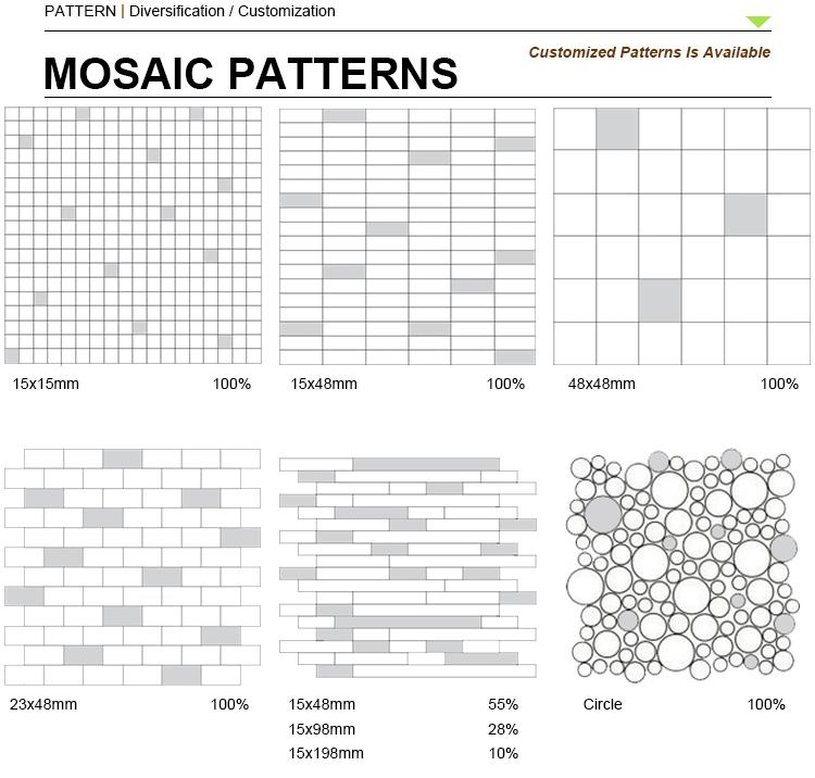 3D Stone Mosaic Decorative Tile Honey Onyx Mosaic For Wall Tile