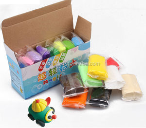 The new super light clay diy 16 color suit Non-toxic authentic children's space Choi clay plasticine