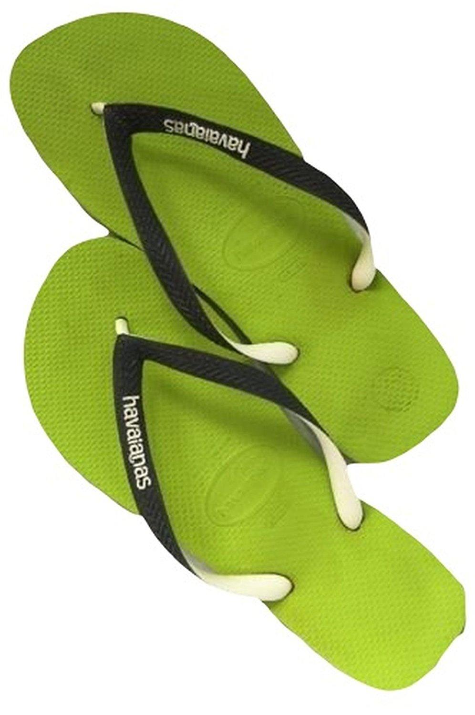 5c9ac694dc61ac Get Quotations · Havaianas Mens Brazil Logo Sandal Lime Green Grey
